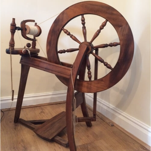 The spinning wheel used to groom the fur